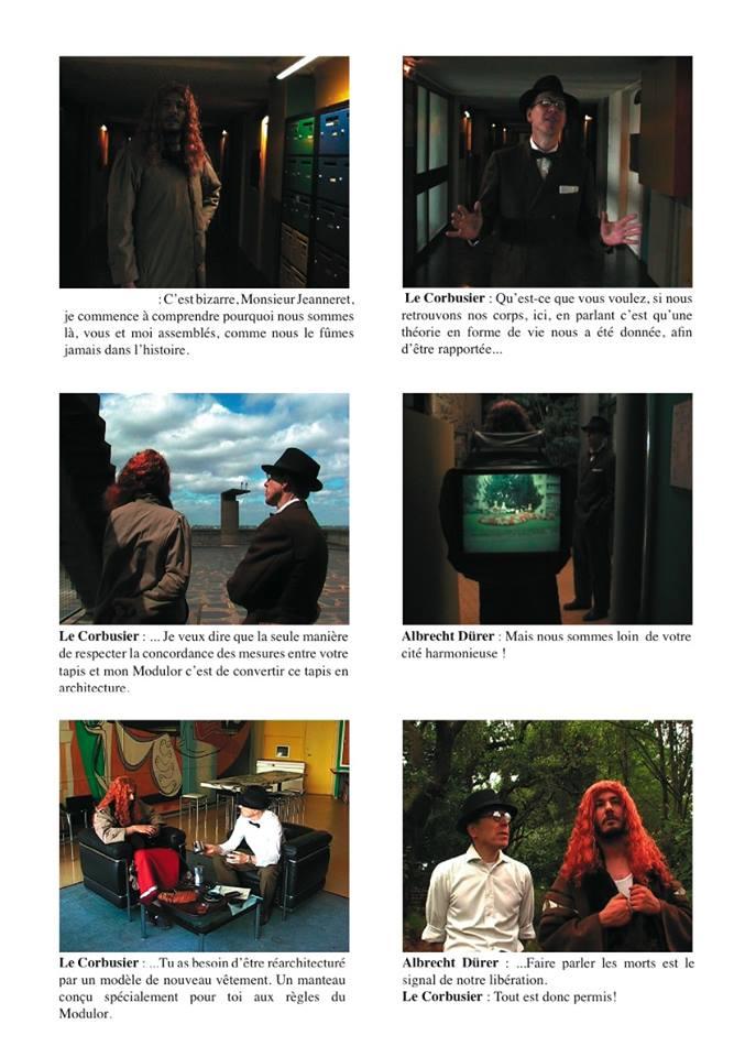Dialogue fictif n°3 : Albrecht Dürer & Le Corbusier, Michel Aubry / La galerie du cartable, 33', 2005.